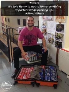 Remy alle prese con sponsor e valigie