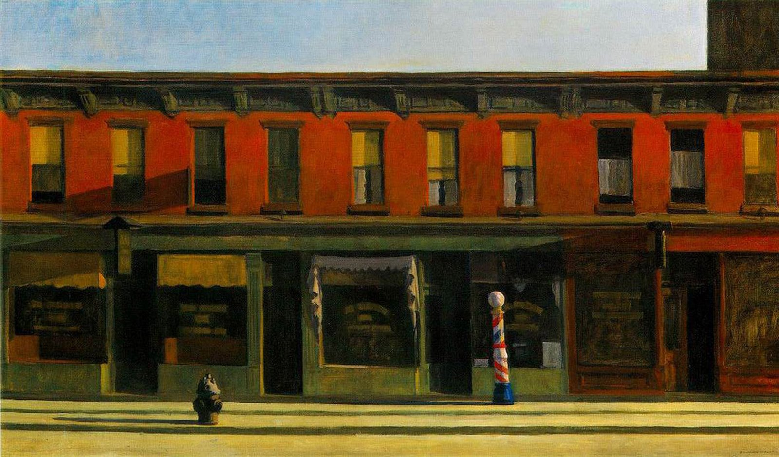 Early Sunday Morning, Hopper - 1930