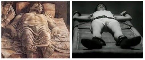 Parallelismo tra il ''Cristo Morto'' di Mantegna ed Ettore morente sul letto del carcere