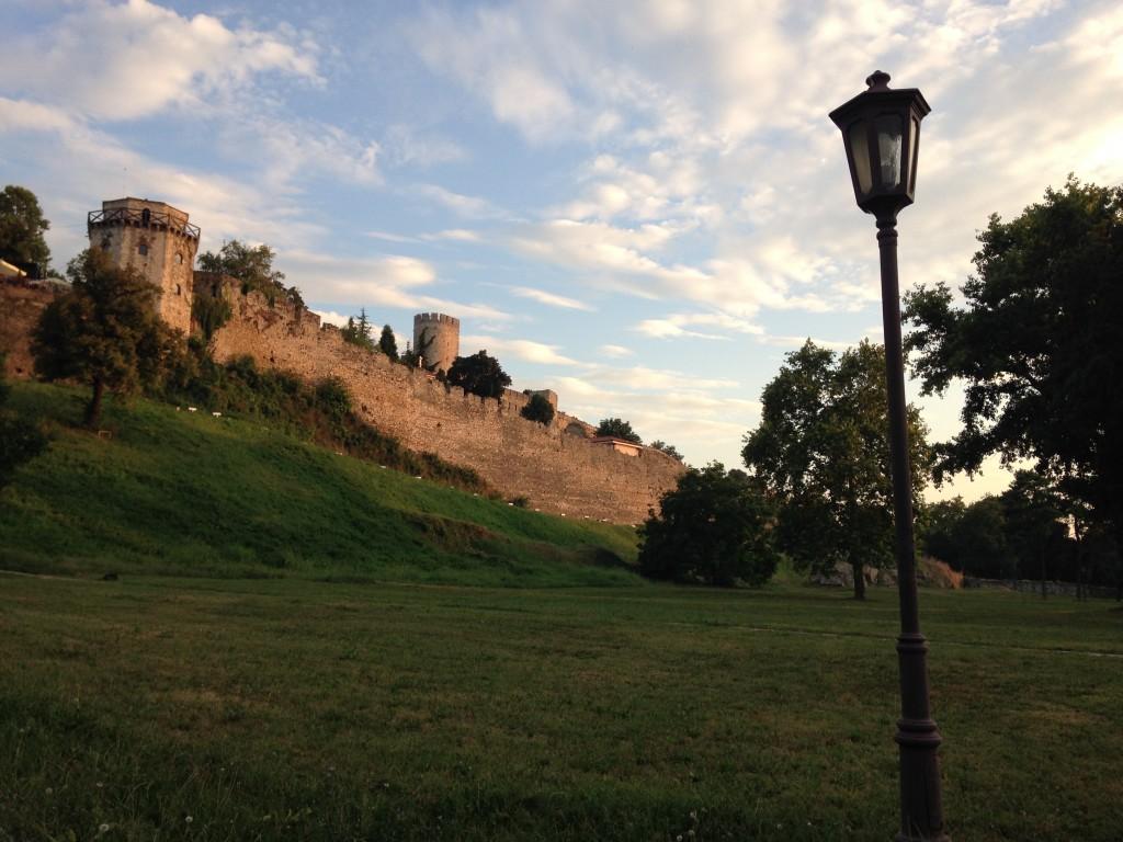La città alta. Le fortificazioni di Kalemegdan.