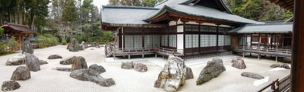 Giardino Zen Kongōbu-ji, Il maestro insegna ai discepoli, Monte Koya, Prefettura di Wakayama.