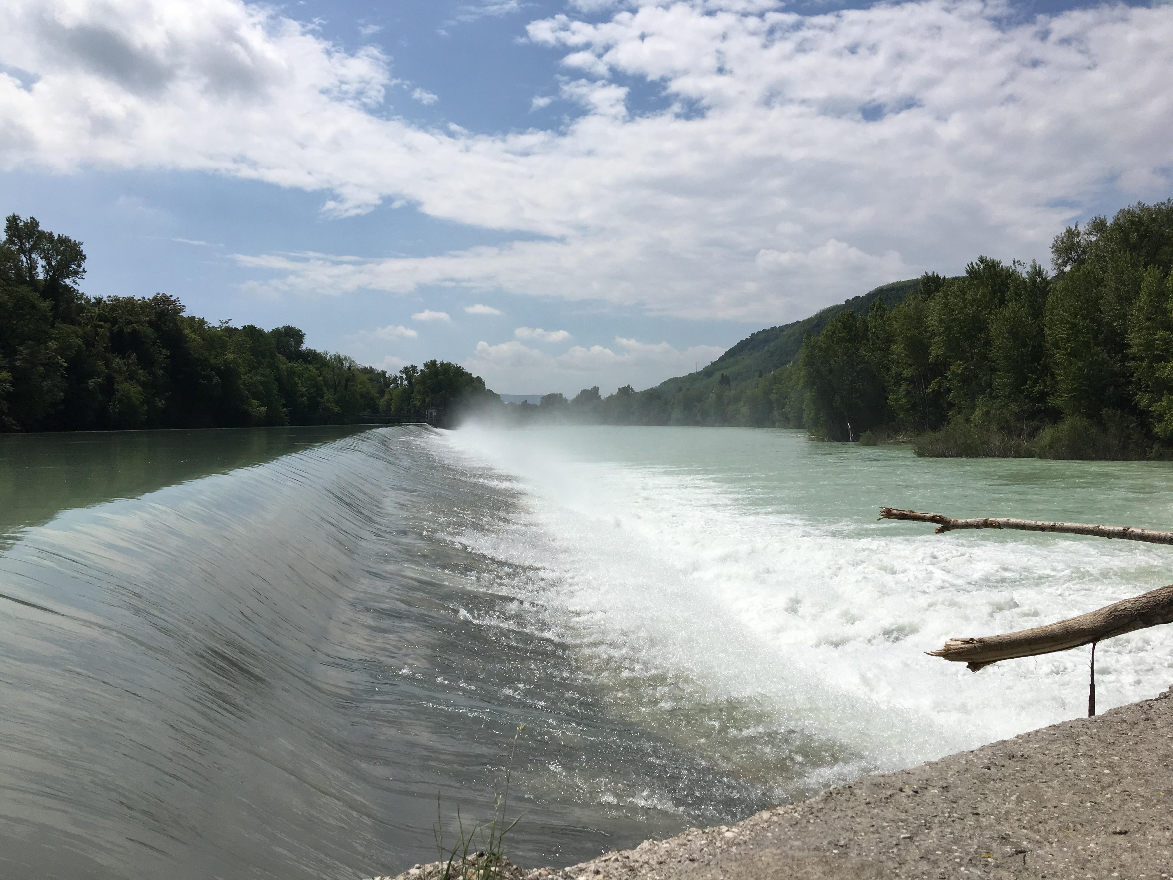 Il parco al Piuma e la diga sull'Isonzo.