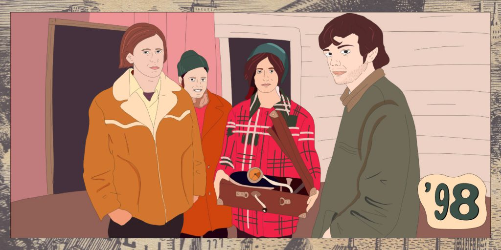 Dal documentario animato di Pitchfork, un disegno dei Neutral Milk Hotel