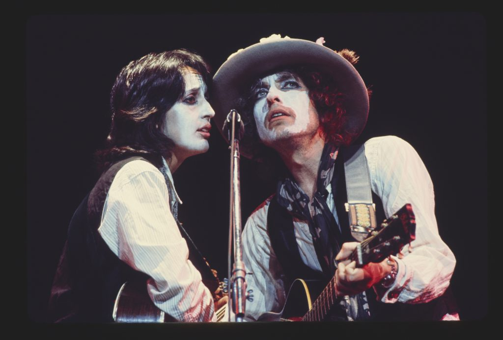 Joan Baez e Bob Dylan nella Rolling Thunder Revue