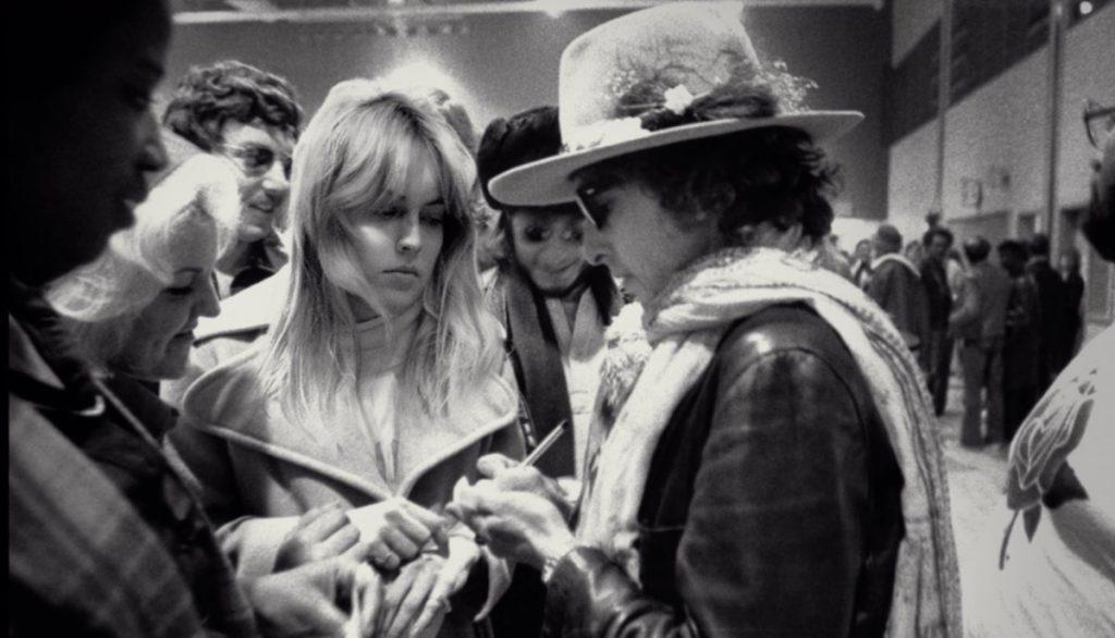 Sharon Stone con Bob Dylan