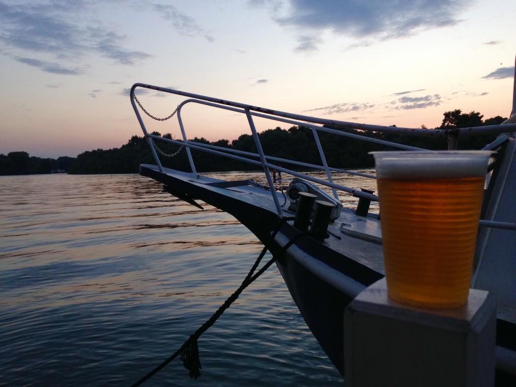 Jarem Na Vodi. Il tramonto sulla Sava.