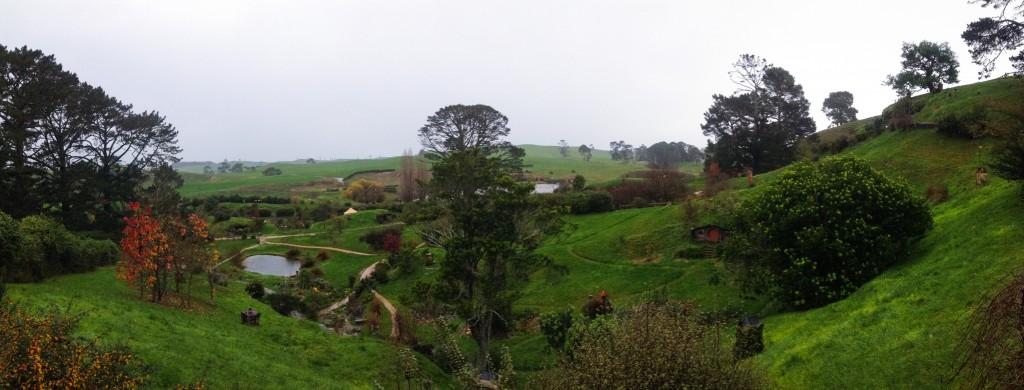Il panorama di Hobbiville / Hobbiton