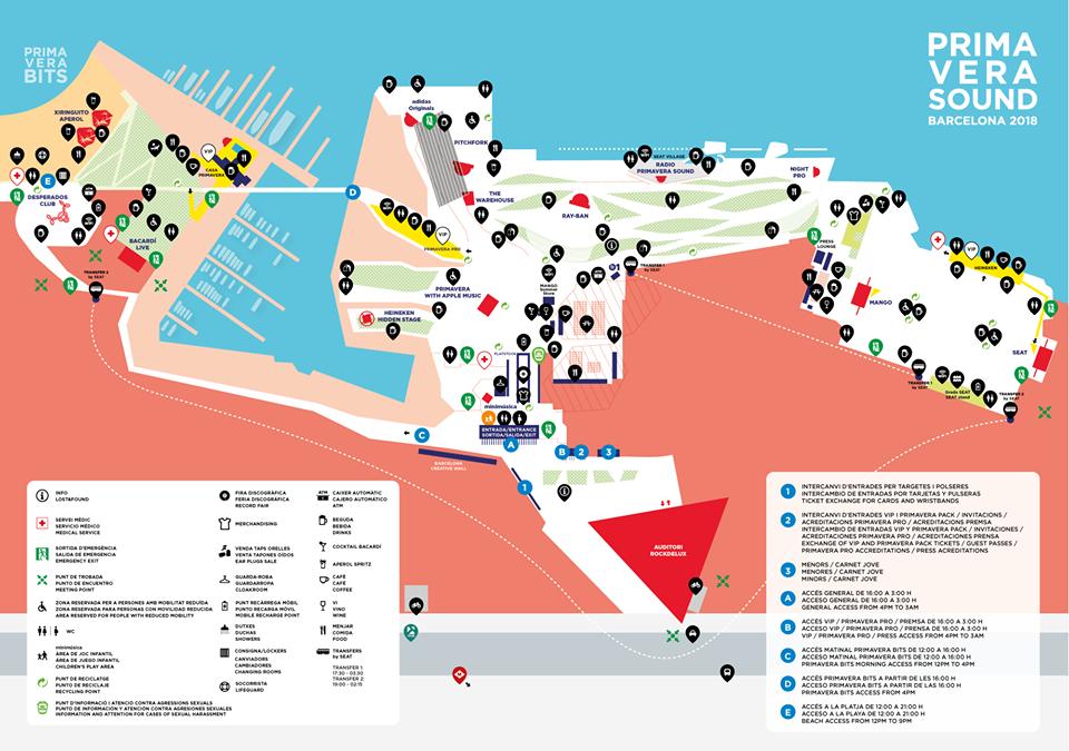 Primavera Sound Festival Map
