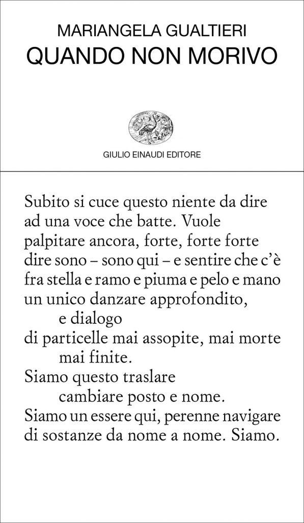 Mariangela Gualtieri libro