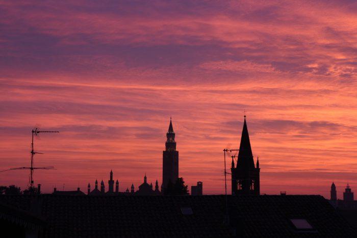 Cremona al tramonto