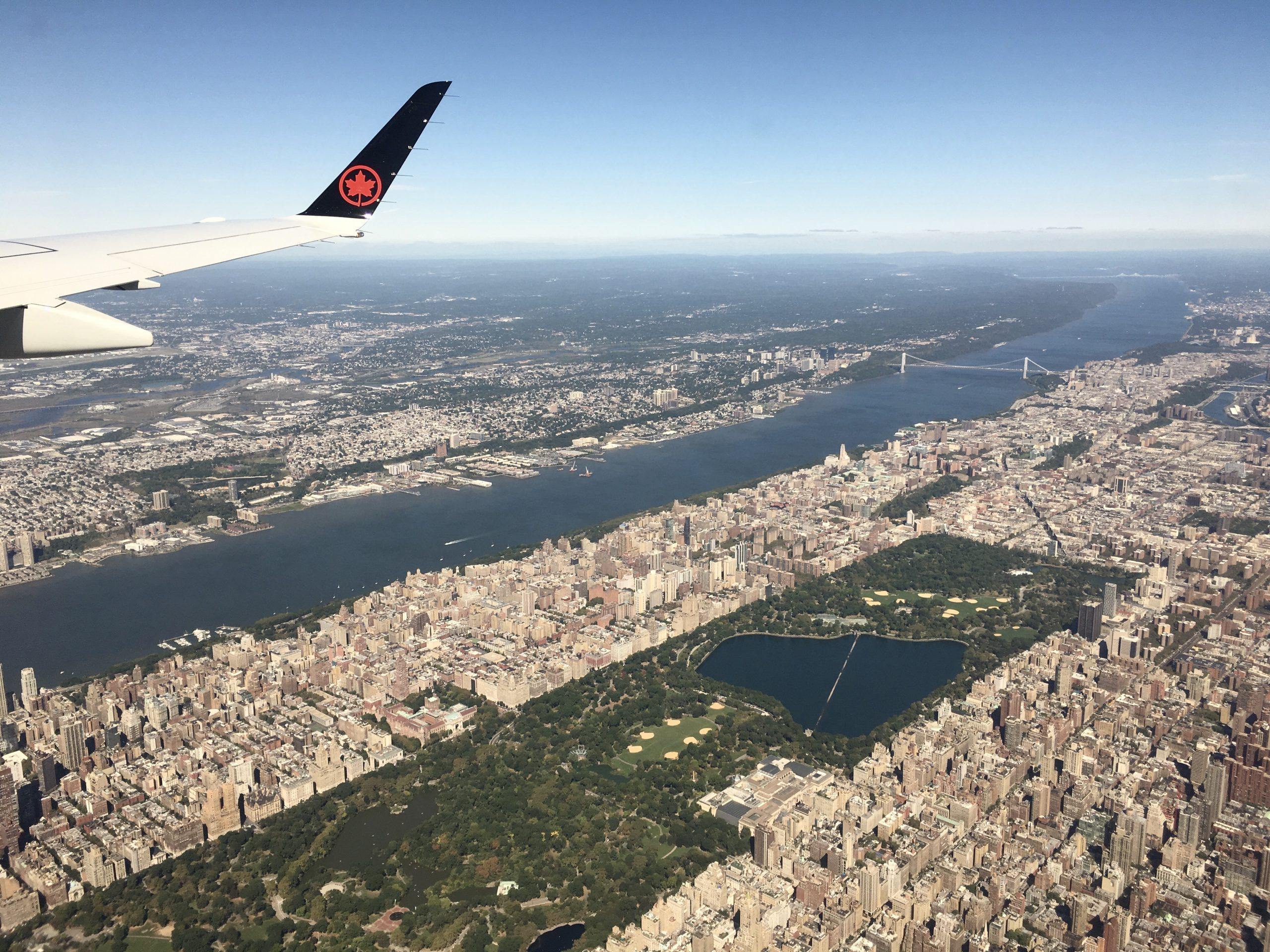 New York dall'alto aircanada