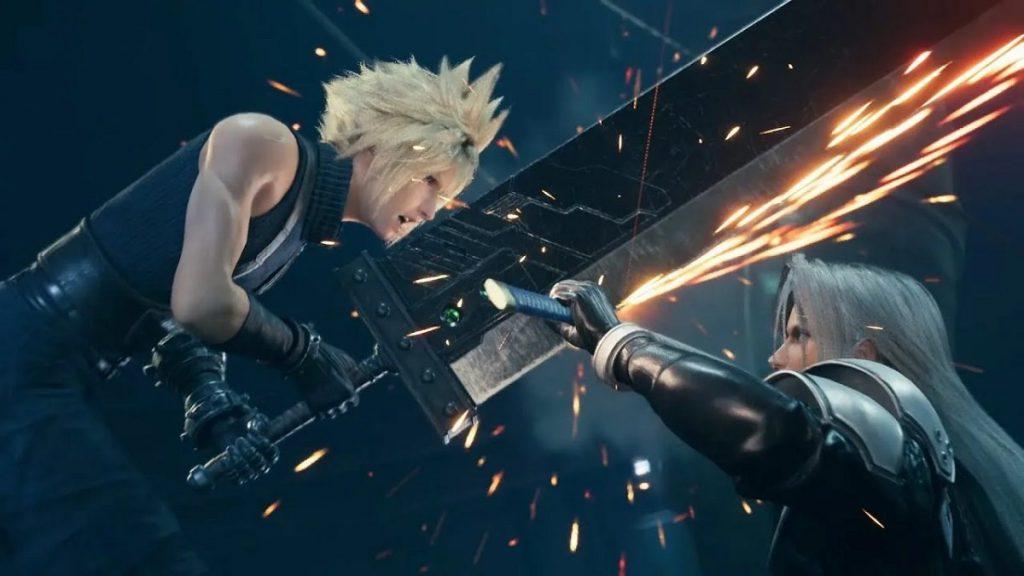 Una scena di combattimento da Final Fantasy VII Remake