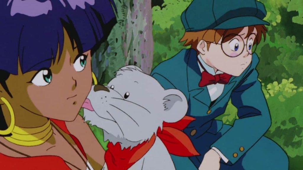 Nadia e Jean, in un frame de Il Mistero della pietra azzurra